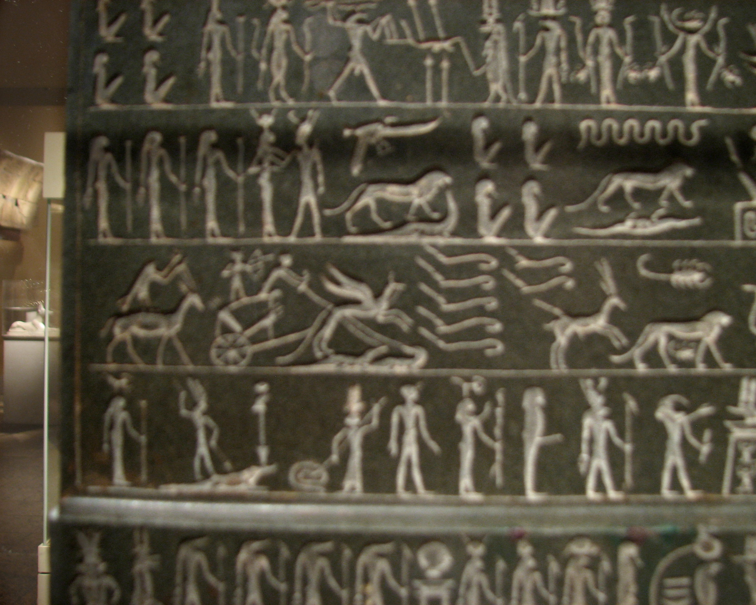 the metternich stela The metternich stela, another 30th dynasty cippus, provides the most extensive collection of the horus cippus narrative spells rear view of mma 20223 the main spell, which is on the rear of the stela, is a 'spell for protection on water.