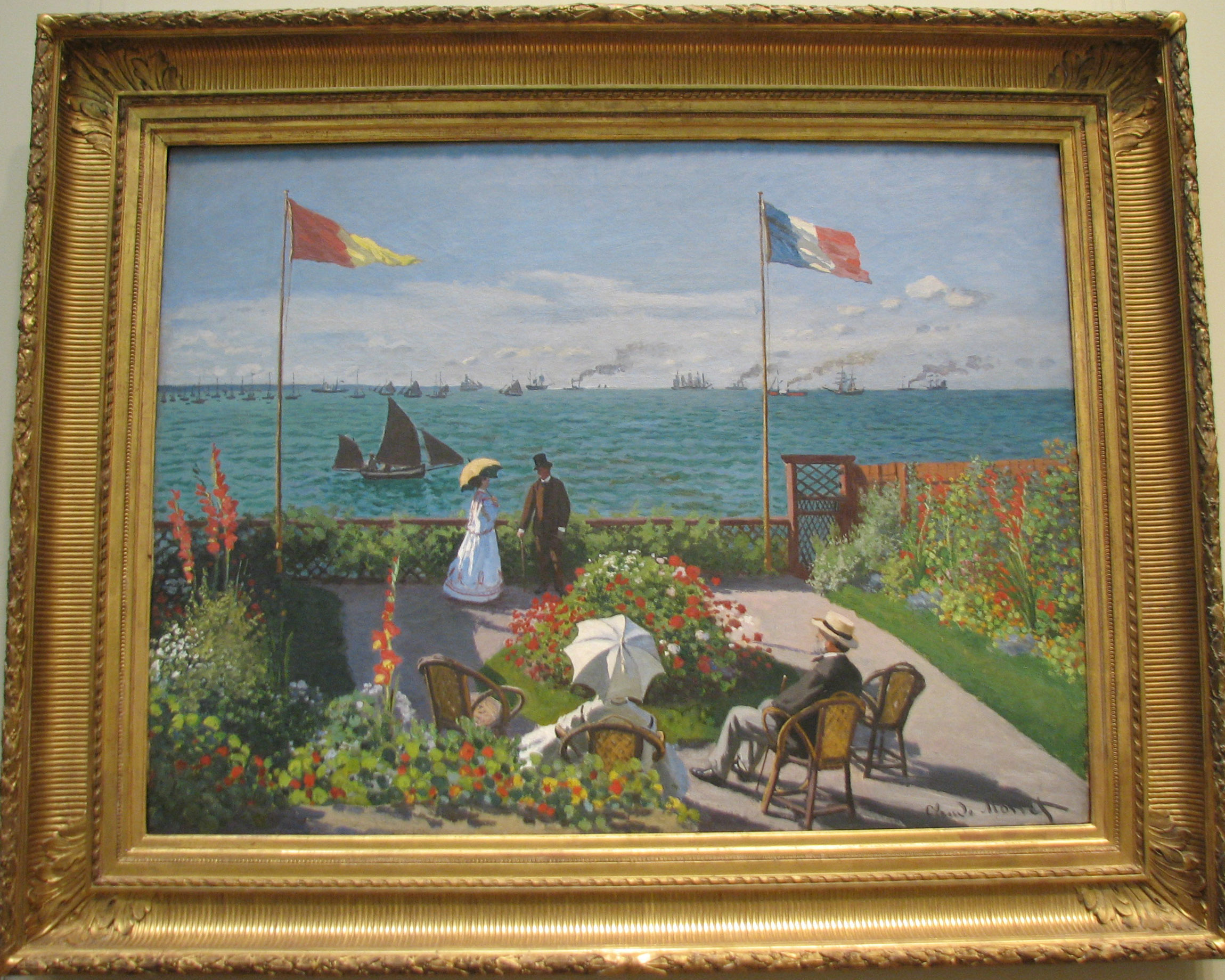 Met Museum Monet Garden At Sainte Adresse