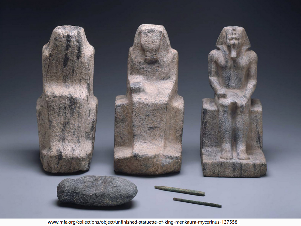 Unfinished Statuettes Of Menkaura