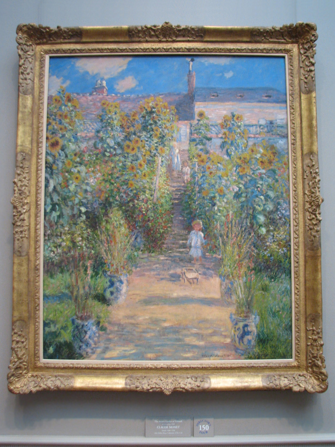 The Artistu0027s Garden At Vétheuil, 1880. Claude Monet, French, 1840   1926.  Oil On Canvas, 151.5 X 121 Cm (59 5/8 X 47 5/8 In.)